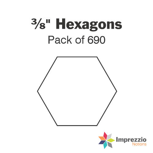 "⅜"" Hexagon Papers - Pack of 690"
