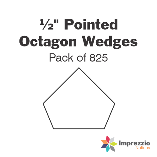 "½"" Pointed Octagon Wedge Papers - Pack of 825"