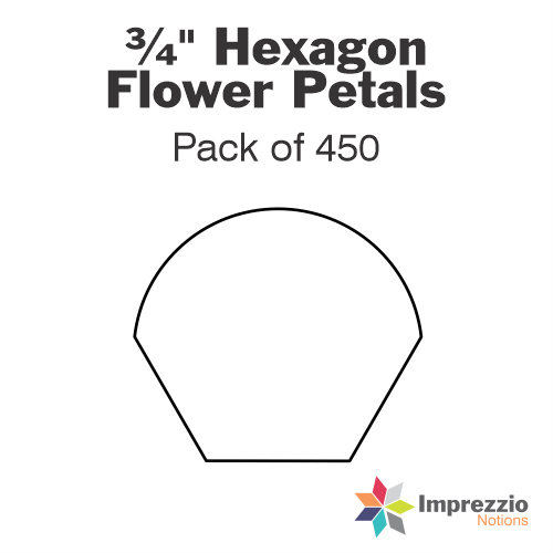 "¾"" Hexagon Flower Petal Papers - Pack of 450"