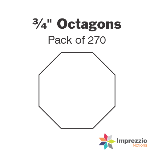 "¾"" Octagon Papers - Pack of 270"
