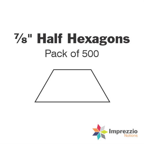 "⅞"" Half Hexagon Papers - Pack of 495"