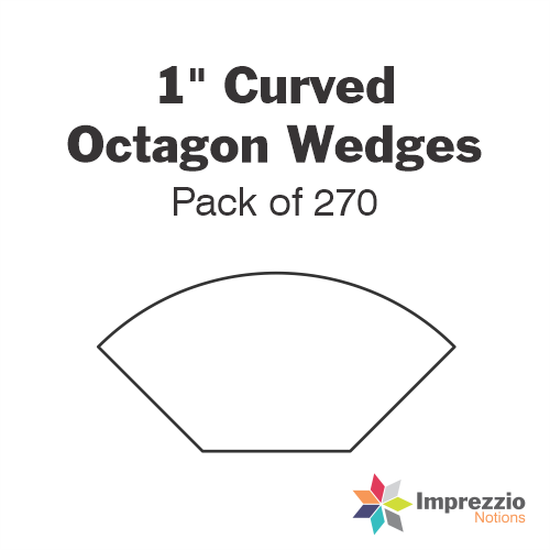 "1"" Curved Octagon Wedge Papers - Pack of 270"