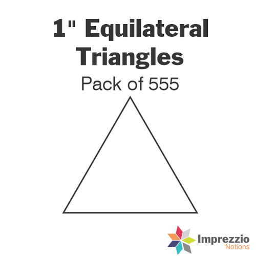 "1"" Equilateral Triangle Papers - Pack of 740"