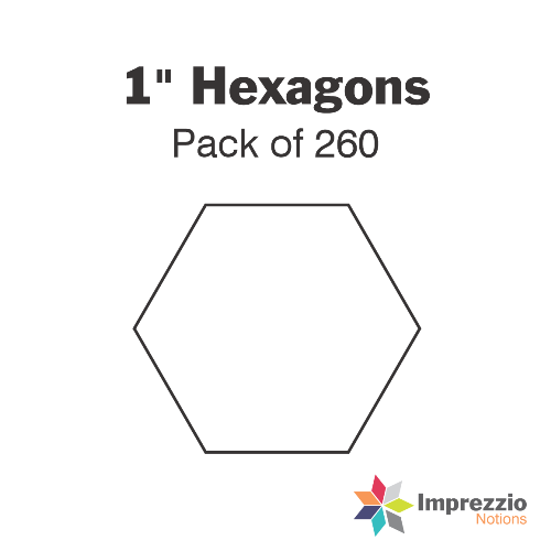 "1"" Hexagon Papers - Pack of 260"