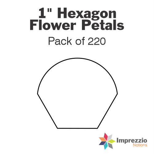 "1"" Hexagon Flower Petal Papers - Pack of 220"