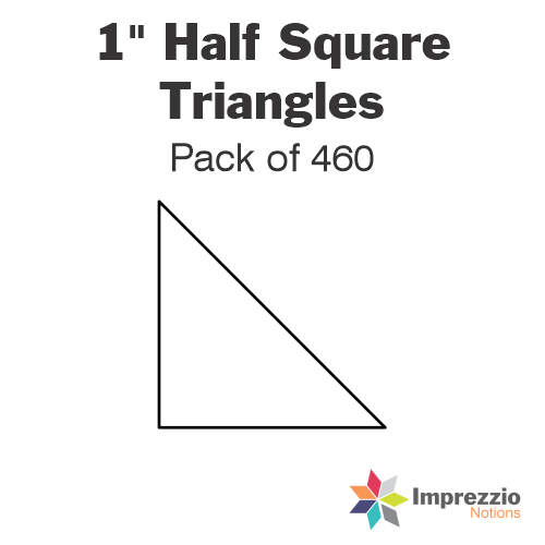 "1"" Half Square Triangle Papers - Pack of 640"