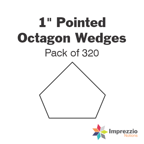 "1"" Pointed Octagon Wedge Papers - Pack of 320"