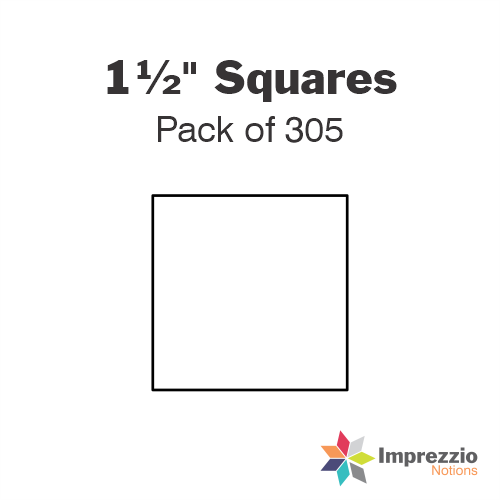 "1½"" Square Papers - Pack of 300"