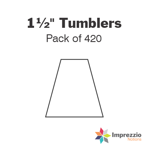 "1½"" Tumbler Papers - Pack of 390"