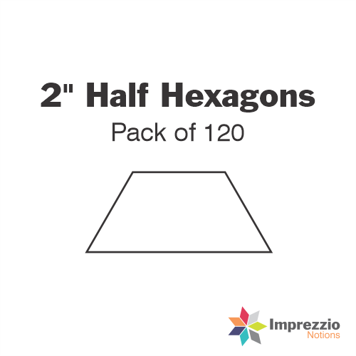 "2"" Half Hexagon Papers - Pack of 120"