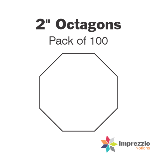 "2"" Octagon Papers - Pack of 100"