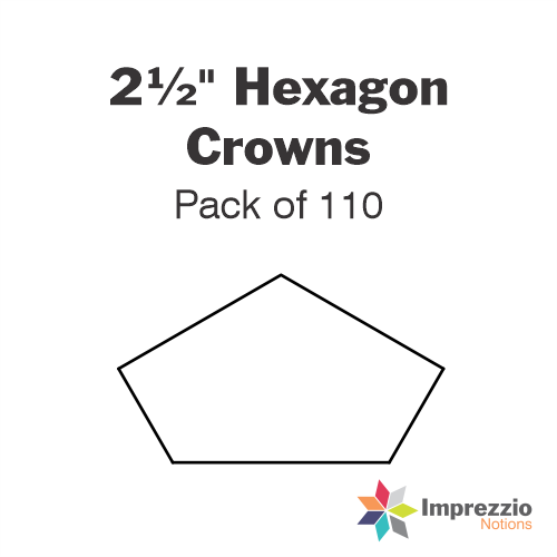 "2½"" Hexagon Crown Papers - Pack of 110"