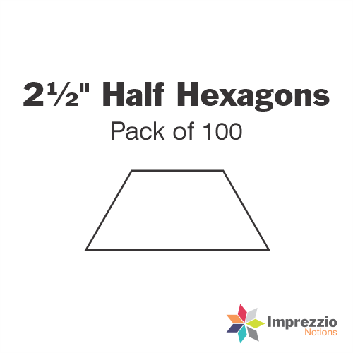 "2½"" Half Hexagon Papers - Pack of 100"