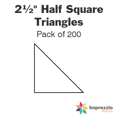 "2½"" Half Square Triangle Papers - Pack of 190"