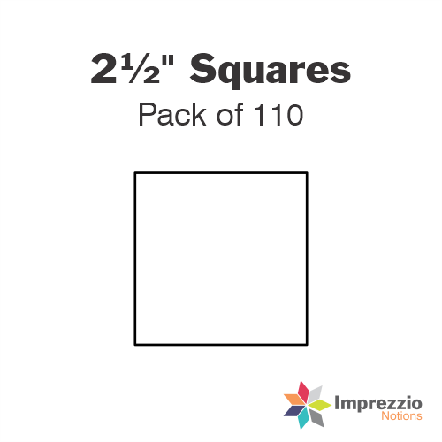 "2½"" Square Papers - Pack of 110"
