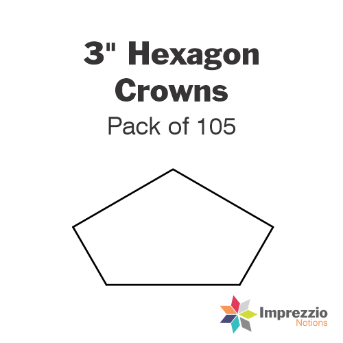 "3"" Hexagon Crown Papers - Pack of 105"