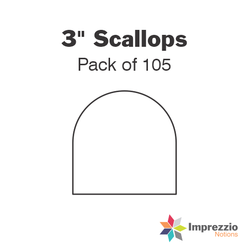 "3"" Scallop Papers - Pack of 105"