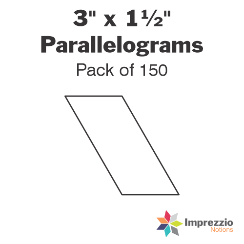 "3"" x 1½"" Parallelogram Papers - Pack of 150"