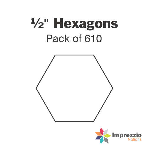 "½"" Hexagon Papers - Pack of 610"