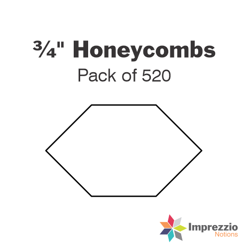 "¾"" Honeycomb Papers - Pack of 520"