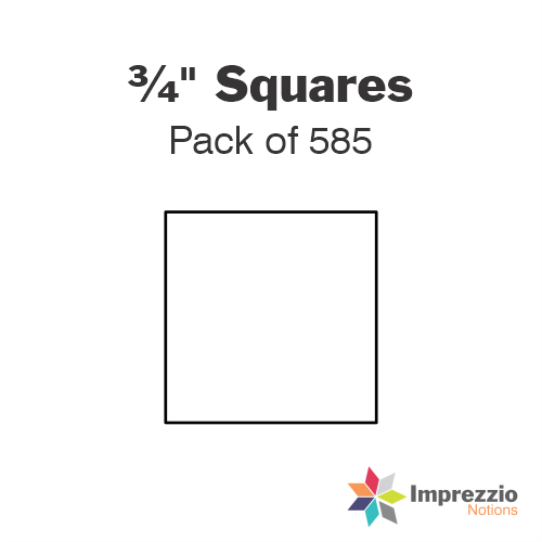 "¾"" Square Papers - Pack of 1175"