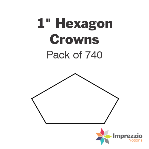 "1"" Hexagon Crown Papers - Pack of 740"