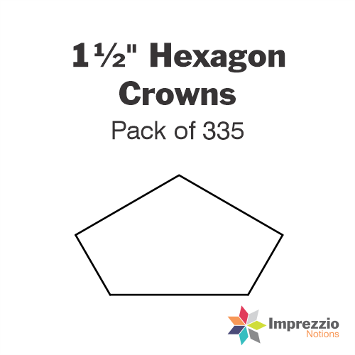 "1½"" Hexagon Crown Papers - Pack of 330"