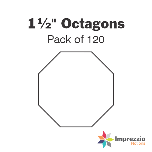 "1½"" Octagon Papers - Pack of 120"