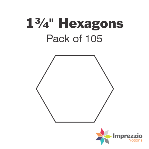 "1¾"" Hexagon Papers - Pack of 105"