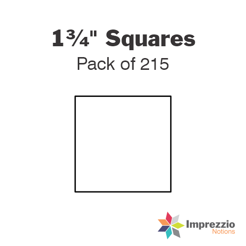 "1¾"" Square Papers - Pack of 215"
