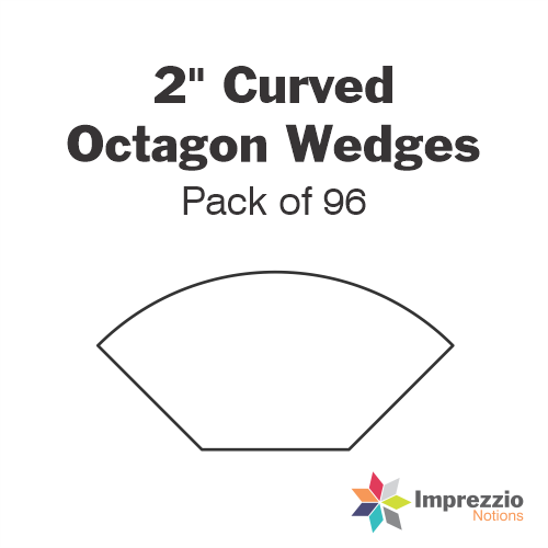 "2"" Curved Octagon Wedge Papers - Pack of 95"