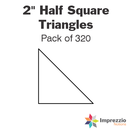 "2"" Half Square Triangle Papers - Pack of 320"