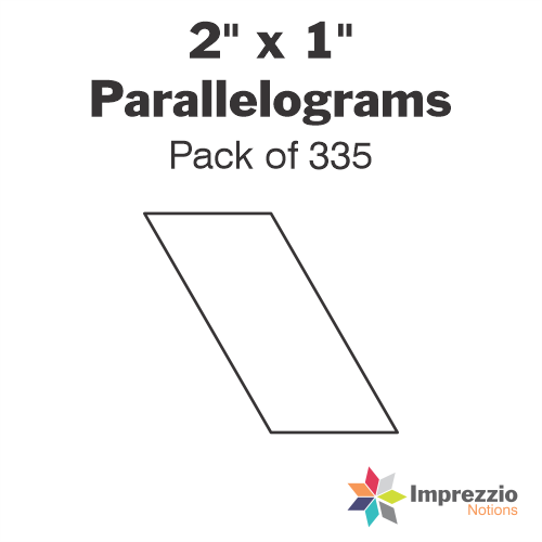 "2"" x 1"" Parallelogram Papers - Pack of 335"