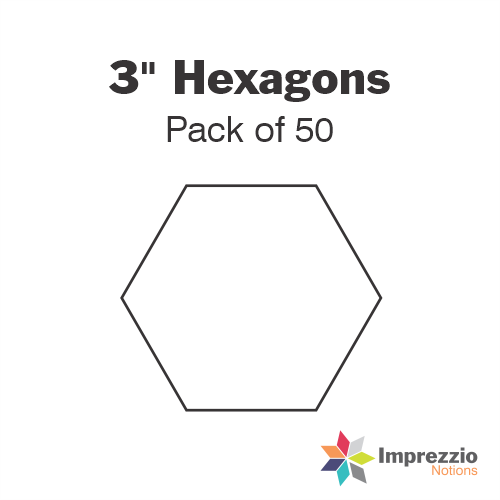 "3"" Hexagon Papers - Pack of 50"