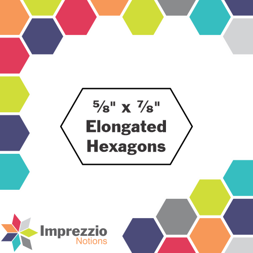 "⅝"" x ⅞"" Elongated Hexagons"