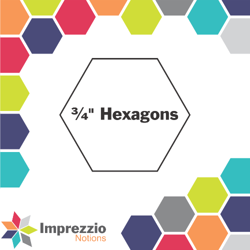 "¾"" Hexagons"