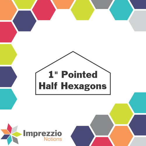 "1"" Pointed Half Hexagons"