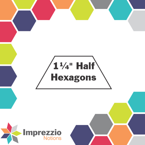 "1¼"" Half Hexagons"