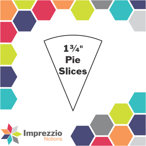 "1¾"" Pie Slices"