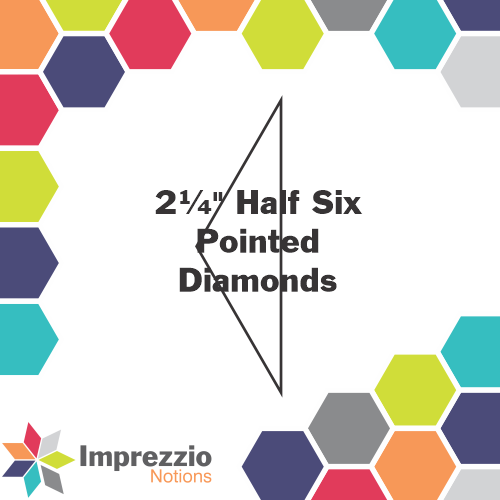 "2¼"" Half Six Pointed Diamonds"