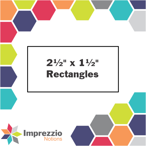 "2½"" x 1½"" Rectangle Template - ¼"" Seam"