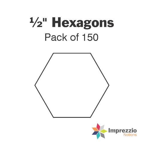 "½"" Hexagon Papers - Pack of 150"