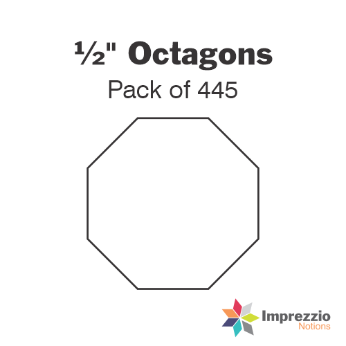 "½"" Octagon Papers - Pack of 445"
