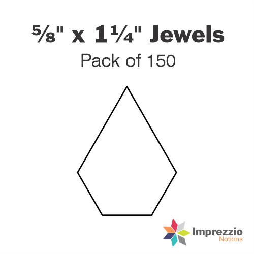 "⅝"" x 1¼"" Jewel Papers - Pack of 150"