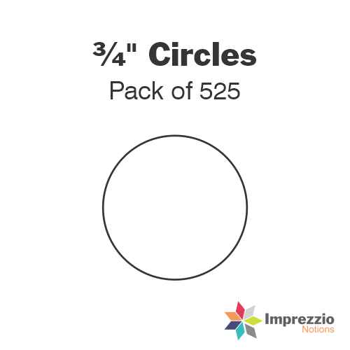 "¾"" Circle Papers - Pack of 525"
