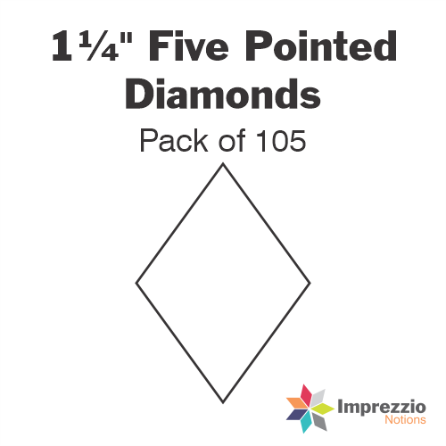 "1¼"" Five Pointed Diamond Papers - Pack of 105"