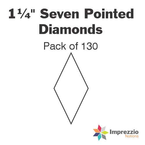 "1¼"" Seven Pointed Diamond Papers - Pack of 130"