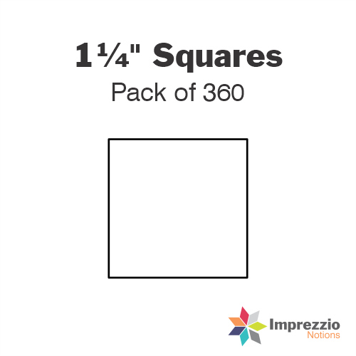 "1¼"" Square Papers - Pack of 465"