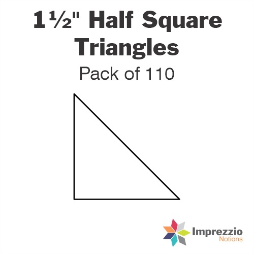 "1½"" Half Square Triangle Papers - Pack of 110"