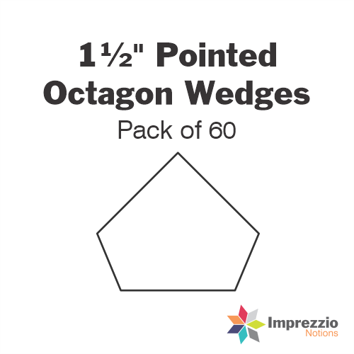 "1½"" Pointed Octagon Wedge Papers - Pack of 60"